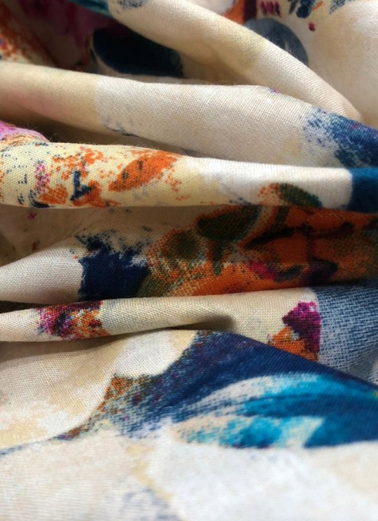 Multicolor Musk Cotton 100X100 Weaving Printed Fabric 102