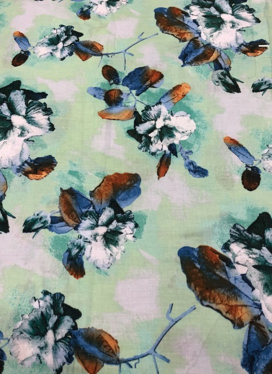 Multicolor Musk Cotton 100X100 Weaving Printed Fabric 111