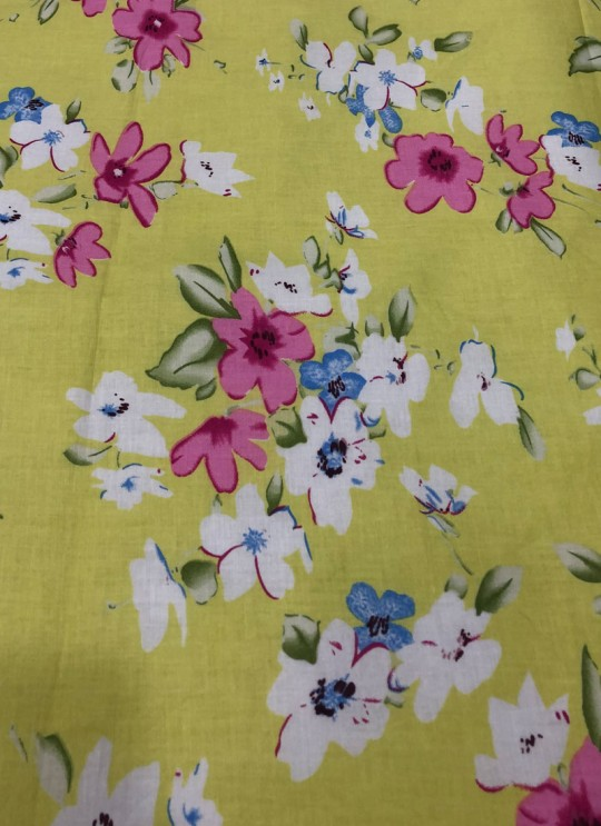 Multicolor Musk Cotton 100X100 Weaving Printed Fabric 113