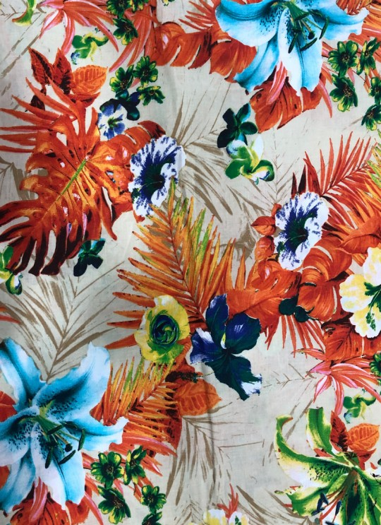 Multicolor Musk Cotton 100X100 Weaving Printed Fabric 114