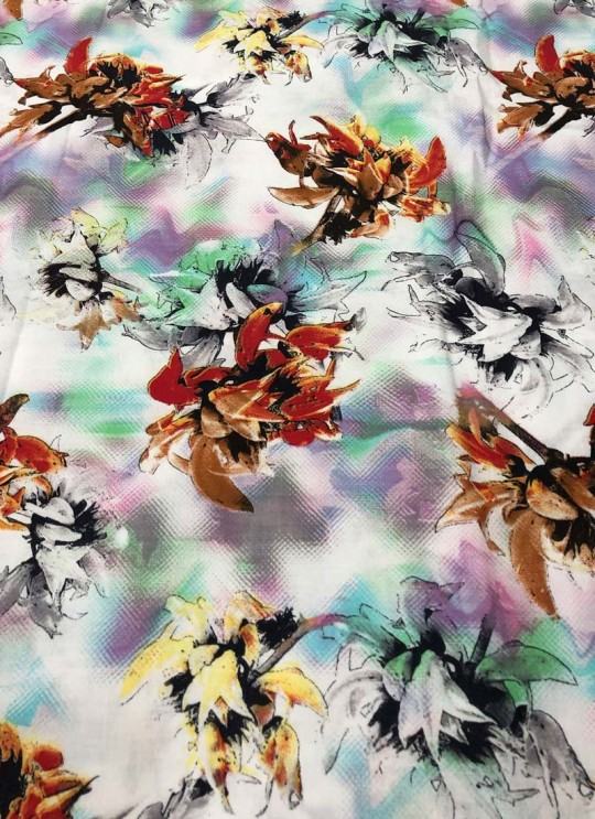 Multicolor Musk Cotton 100X100 Weaving Printed Fabric 118