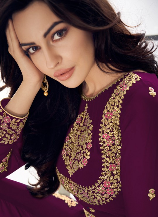 Sparking Party Wear Pakistani Suit In Magenta Color Anaya Gold 8206D Colour By Aashirwad SC/015721