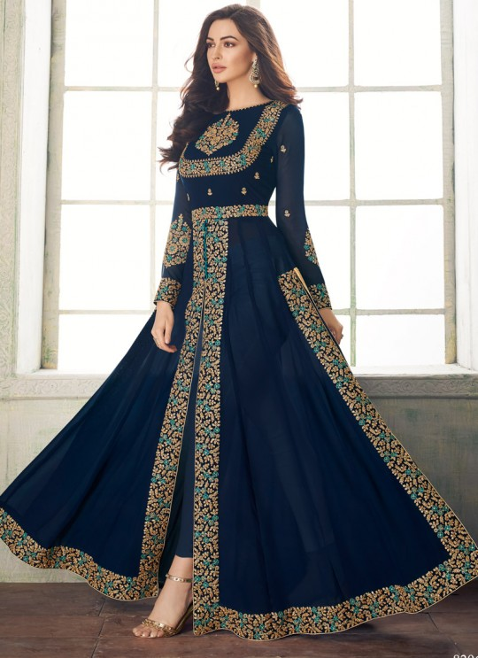 Masterly Party Wear Pakistani Suit In Royal Blue Color Anaya Gold 8206E Colour By Aashirwad SC/015722