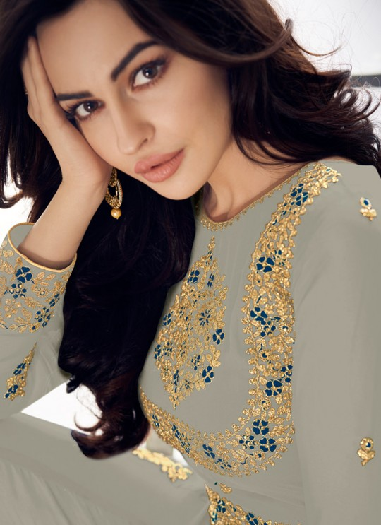 Unique Party Wear Pakistani Suit In Grey Color Anaya Gold 8206F Colour By Aashirwad SC/015723