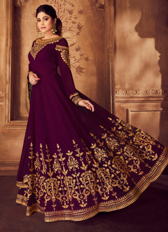 Magenta Georgette Ceremony Floor Length Anarkali Anarkali 8226 By Aashirwad Creation SC/016035