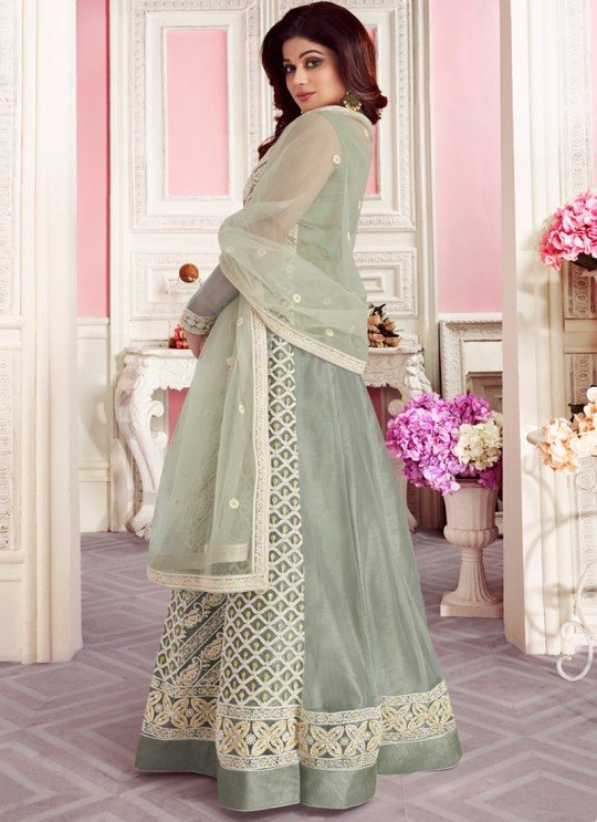 Light Grey Net Wedding Floor Length Anarkali Sufian 8264 By Aashirwad Creation SC/015983