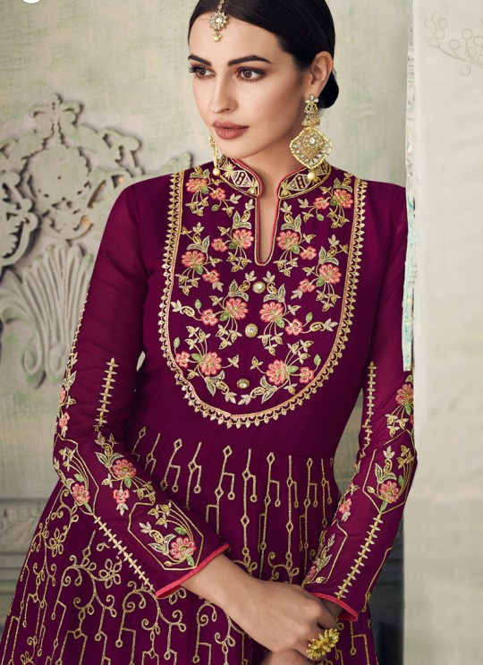 Splendid Magenta Sharara Suit For Bridesmaids Simona Sarara 8270 By Aashirwad Creation SC/015864