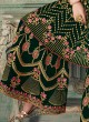 Magnificent Green Embroidered Party Wear Sharara Suit For Bridesmaids Simona Sarara 8271 By Aashirwad Creation SC/015865