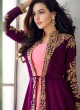 Purple Georgette Embroidered Eid Wear Jacket Style Anarkali Anaya 8203 By Aashirwad Creation SC/015176