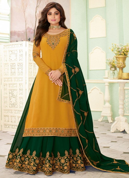 Yellow Wedding Wear Embroidered Lehenga Dress Fizza 7113 By Aashirwad SC-017678