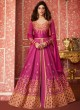 Pink Silk Embroidered Floor Length Anarkali Lihaaz 8294 By Aashirwad