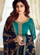 Pure Georgette Embroidered Churidar Suits Festival Wear In Turquoise Color Mahira Vol 2 8239 By Aashirwad Creation SC/015487