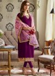 Magenta Georgette Embroidered Staight Cut Suits Mohra 7063 By Aashirwad  SC/016611