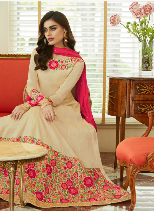 Mulberry Silk Embroiderd Anarkali Suit Mor bagh Queen 7051 By Aashirwad Creation SC/016795