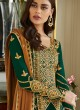 Enchanting  Georgette Party Wear Churidar Suit In Green Color Mbroidered 7006 By Aashirwad SC/016303