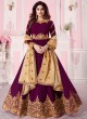 Magenta Georgette Embroidered Abaya Style Anarkali Saanvi -2 8260 By Aashirwad