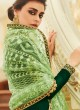 Joyful Satin Georgette Party Wear Churidar Suit In Green Color Sadaf 7015 By Aashirwad SC/016287