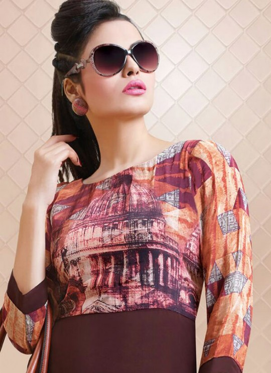 Multicolor Crape Georgette Printed Party Wear Gown Blush Vol 10 7169 By Bansi SC/002610
