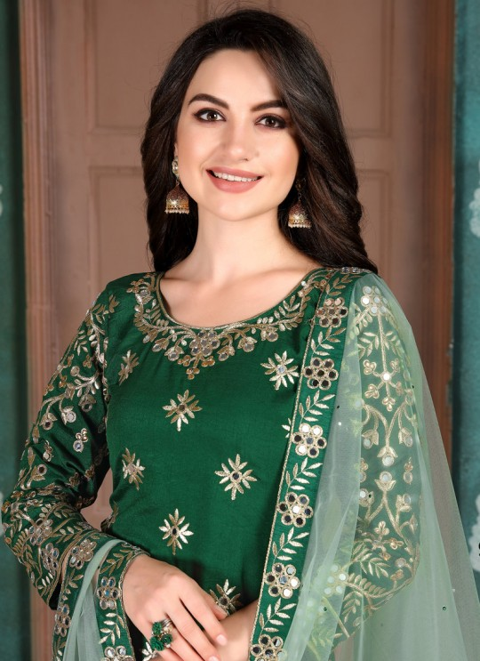 Aanaya Vol 109 By Dani Fashion 901 Green Art Silk Designer Patiala Salwar Suit