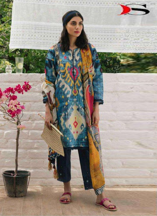 Coco By Deepsy Multicolor Pure Cotton Eid Wear Pakistani Suit 31