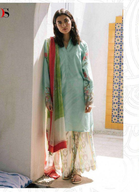 Coco By Deepsy Turquoise Pure Cotton Eid Wear Pakistani Suit 33