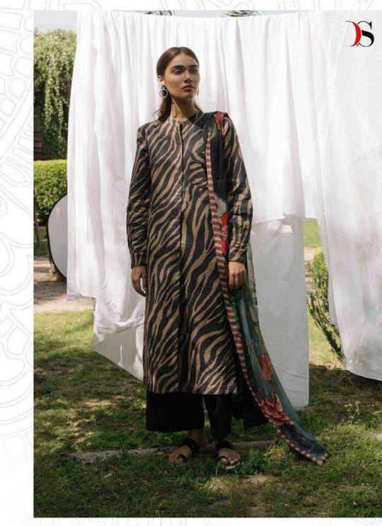 Coco By Deepsy Black Pure Cotton Eid Wear Pakistani Suit 35