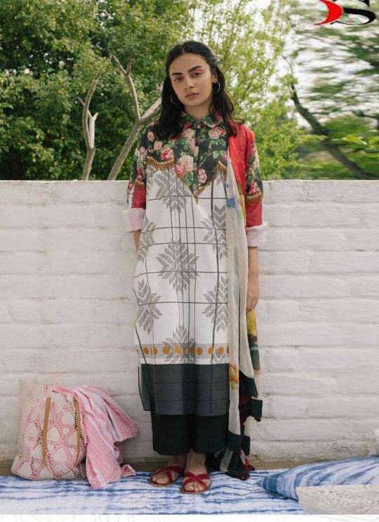 Coco By Deepsy Cream Pure Cotton Eid Wear Pakistani Suit 38