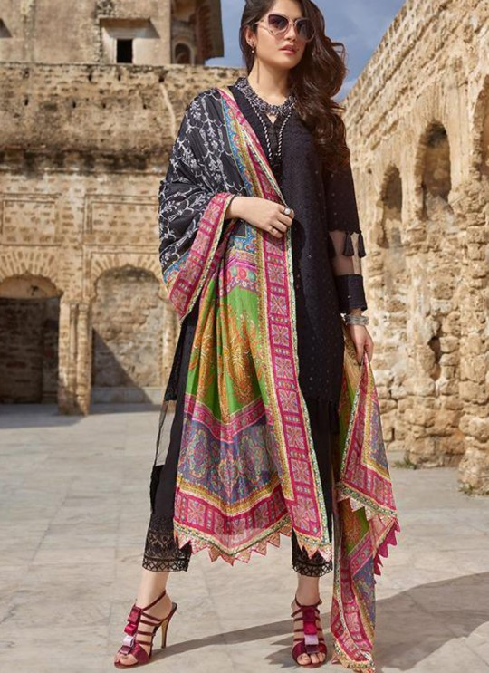Black Pure Cotton Chikankari Summer Wear Pakistani Suits Eidi 800605 By Deepsy SC/015349