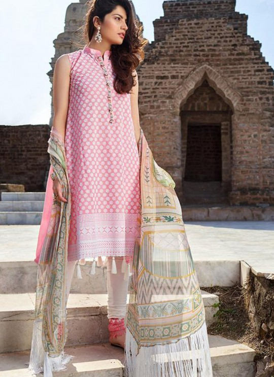 Pink Pure Cotton Chikankari Summer Wear Pakistani Suits Eidi 800606 By Deepsy SC/015349