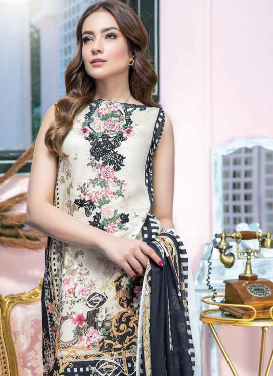 Beige Pure Cotton Resham Work Designer Daily Wear Pakistani Suits Firdous Vol 2 900608 By Deepsy SC/015673