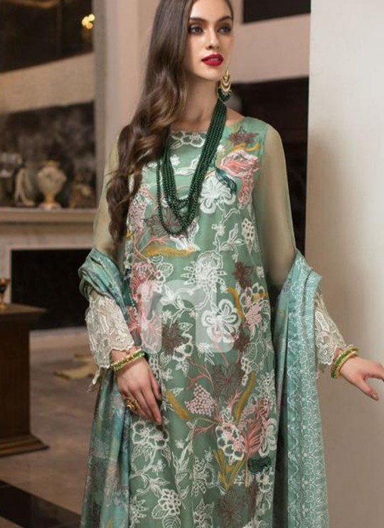 Green Georgette Zari Embroidered Designer Pakistani Suits Gulbano Vol 10 800406 By Deepsy SC/015097