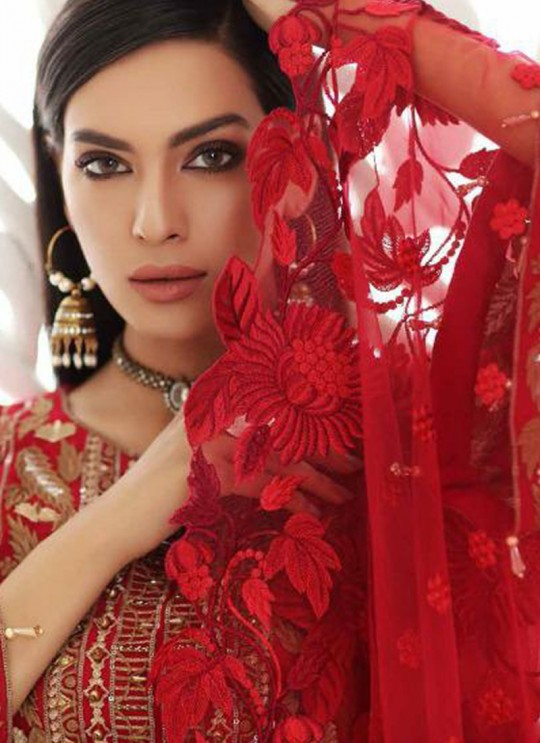 Red Georgette Designer Pakistani Suit Imorzia Vol-12 044 By Deepsy SC/015803