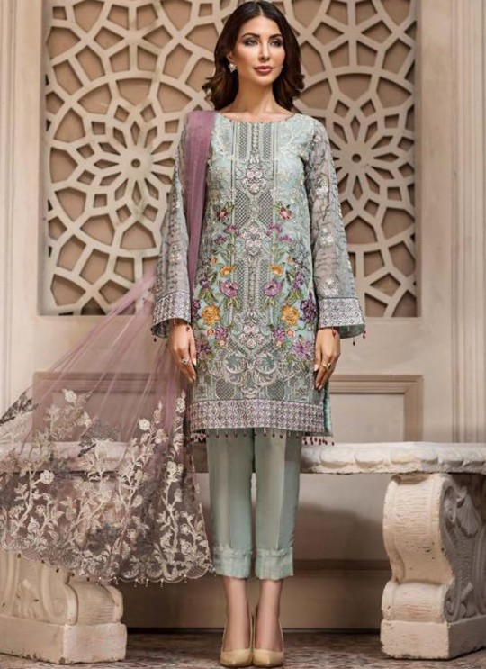 773ba6263162e Pista Green Georgette Embroidered Designer Party Wear Pakistani Suits  Jazmin 900402 By Deepsy SC/015523