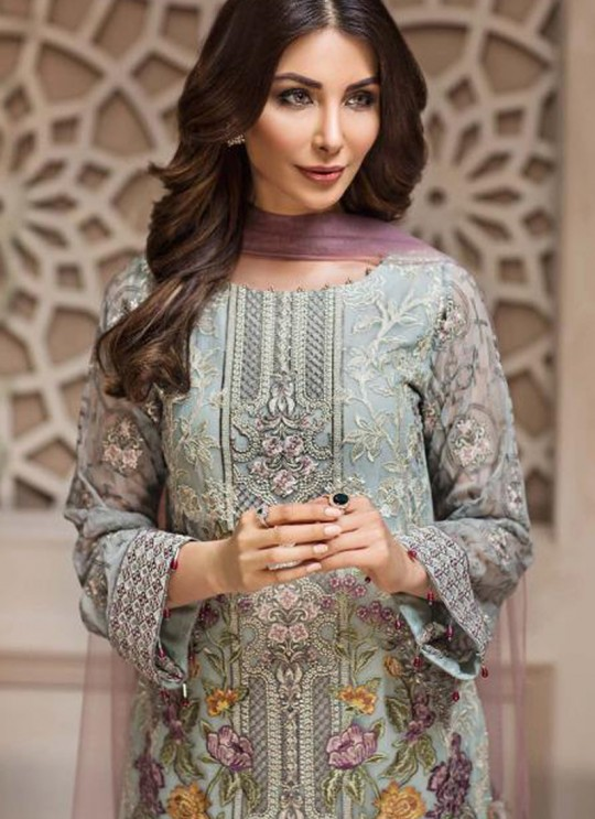 Pista Green Georgette Embroidered Designer Party Wear Pakistani Suits Jazmin 900402 By Deepsy SC/015523