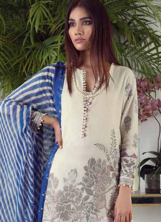 Cream Pure Cotton Printed Designer Pakistani Suits Muslin Vol 5 700501 By Deepsy SC/015044