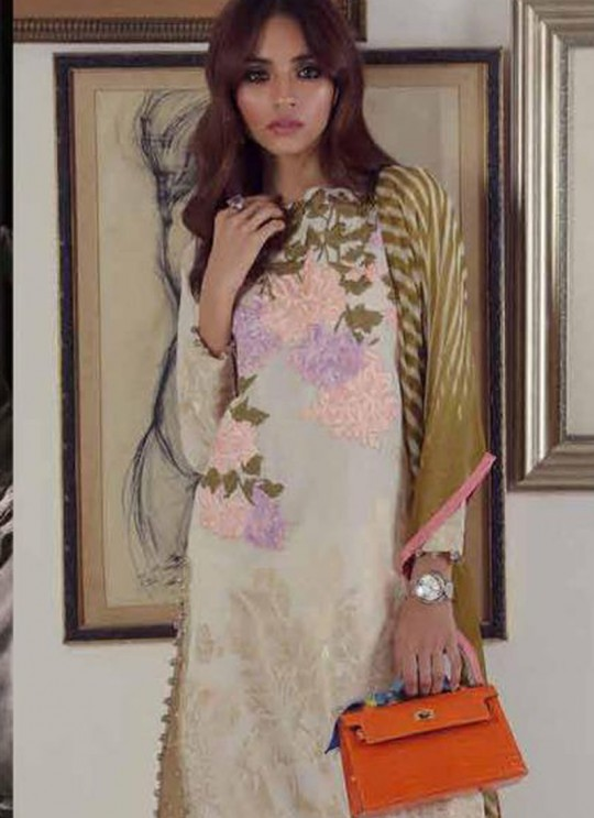 Cream Pure Cotton Printed Party Wear Pakistani Suits Muslin Vol 5 700502 By Deepsy SC/015044