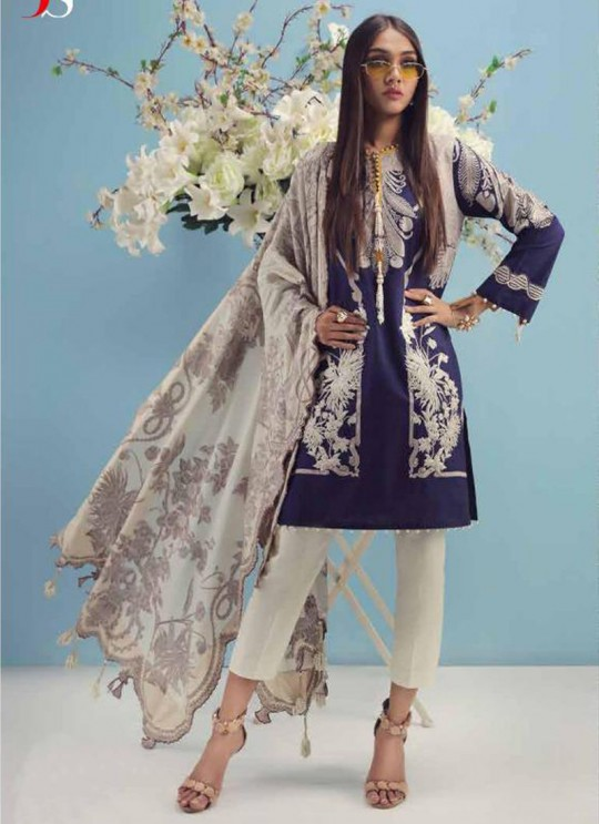 Blue Pure Cotton Printed Daily Wear Pakistani Suits Muslin Vol 5 700505 By Deepsy SC/015044
