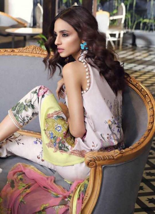 Cream Pure Cotton Printed Office Wear Pakistani Suits Muslin Vol 5 700506 By Deepsy SC/015044