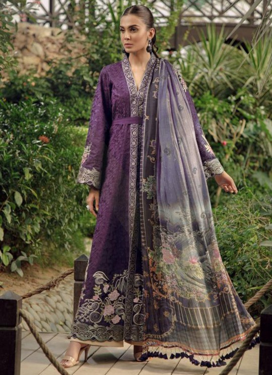 Purple Cotton Embroidered Pakistani Suit Zarquash 013 By Deepsy SC/015777