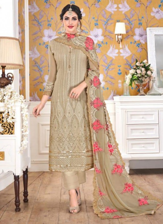Mehendi Georgette Embroidered Churidar Suits Hurma VOL 15 1079 By Eba Lifestyle SC/016143