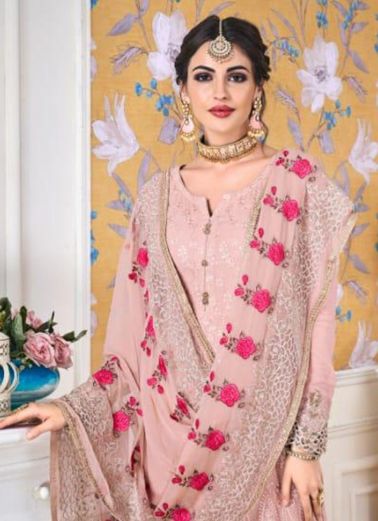 Pink Georgette Embroidered Churidar Suits Hurma VOL 15 1081 By Eba Lifestyle SC/016145