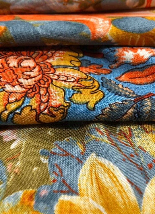 Multicolor Inayat Rayon 140 GSM Printed Fabric 411
