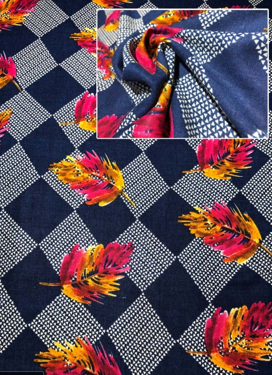 Multicolor Inayat Rayon 140 GSM Printed Fabric 423