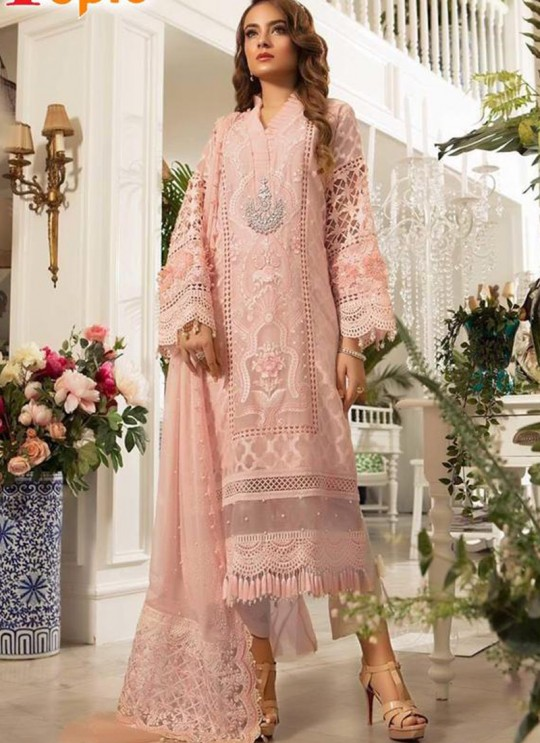 Peach Organza Party Wear Pakistani Suits Rosemeen Paradise 42004 By Fepic SC/015614