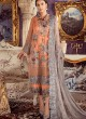 Party Wear Georgette & Net Pakistani Suits In Orange Color Rosemeen Fairy Tales 56002 By Fepic SC/015999