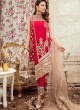 Party Wear Georgette & Net Pakistani Suits In Red Color Rosemeen Fairy Tales 56004 By Fepic SC/015999