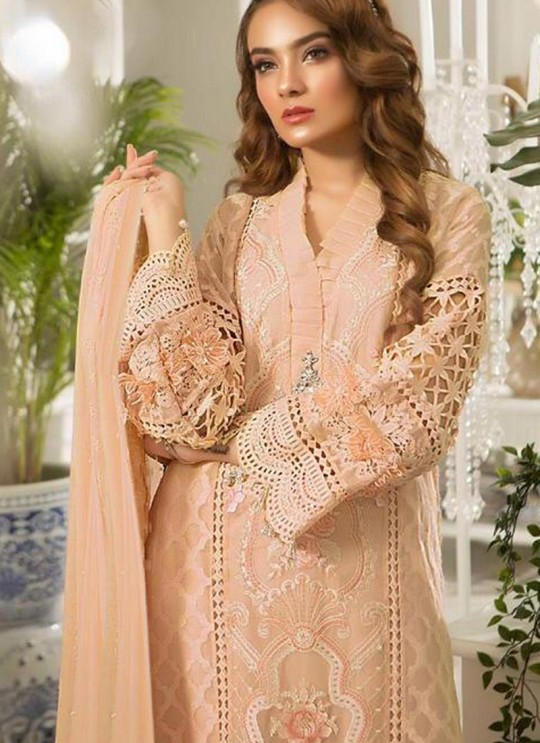 Peach Tissue Party Wear Pakistani Suits Rosemeen Paradise Blockbuster 42004 D Color By Fepic SC/015638