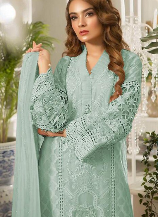 Green Tissue Party Wear Pakistani Suits Rosemeen Paradise Blockbuster 42004 E Color By Fepic SC/015639