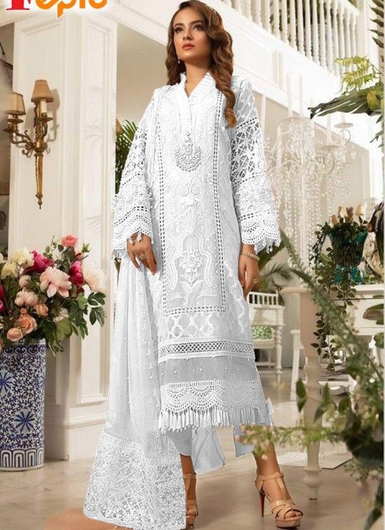 White Tissue Party Wear Pakistani Suits Rosemeen Paradise Blockbuster 42004 G Color By Fepic SC/015640