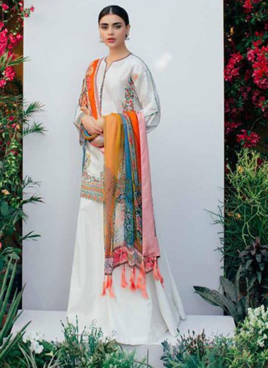 Off White Cambric Festival Wear Pakistani Suits Artist NX 37004 Set By Fepic SC/015065